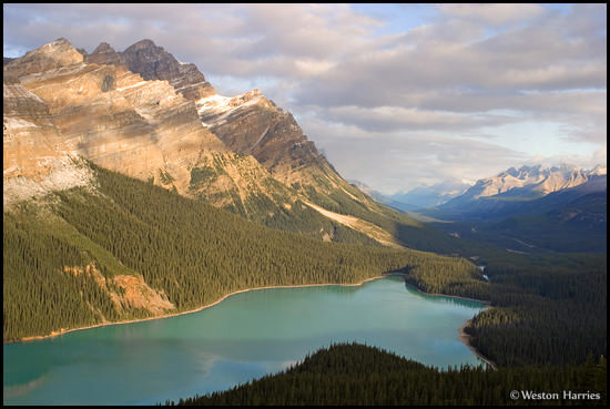 - Peyto Lake and Caldron Peak, early morning, Banff NP, Canada -