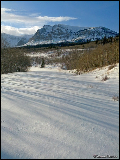 - Many Glacier Road Snowed Over in the Winter, Glacier NP -