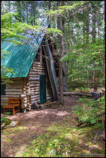 - Backcountry Log Cabin, Glacier NP -