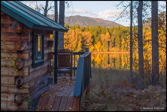 - Log Cabin by Half Moon Lake, West Glacier, MT -