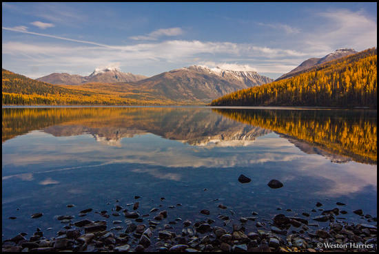 - Fall Colors Reflected in Kintla Lake, Glacier NP -