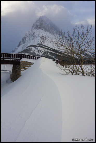 - Snow Drift Below Horse Bridge and Grinnell Point, Glacier NP -