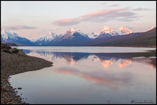 - Lake McDonald at Sunset, Glacier NP -