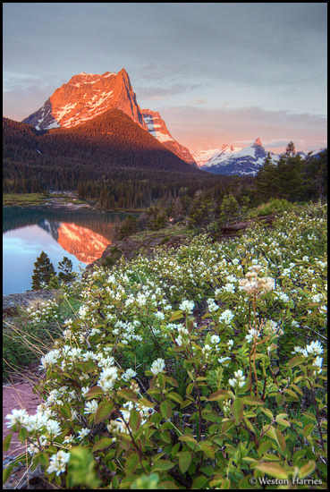 - Sunrise at St. Mary Lake, Glacier NP -