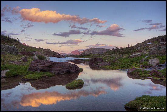 - Sunset Reflection at Logan Pass, Glacier NP -
