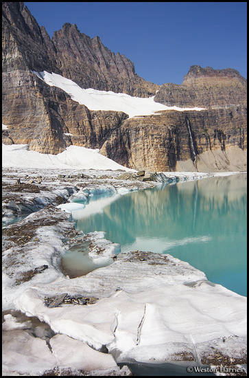 - Grinnell Glacier and Upper Grinnell Lake, Glacier NP -