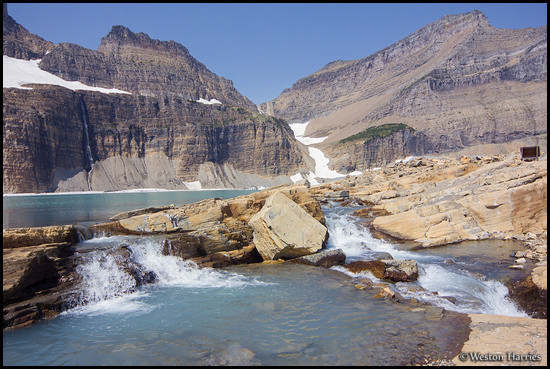 - Cascading Pools at Upper Grinnell Lake, Glacier NP -