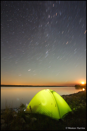 - Camping Under the Stars by Duck Lake, Blackfeet Reservation, Montana -