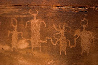 - Petroglyph of a Formative Period Family <br>at the Dark Angel Rock Art Site, Arches NP -