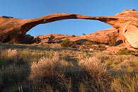 - First Light on Landscape Arch, Arches NP -