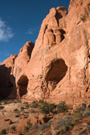 - Two Caves in the Cove of Caves, the Windows Area, Arches NP -