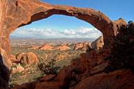 - Looking Through Landscape Arch from Behind, Late Afternoon, Arches NP -