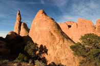 - Sandstone Fins at Sunset, Arches NP -