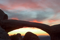- Double O Arch at Sunset, Arches NP -