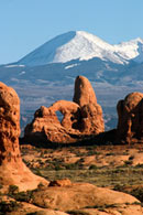 - Turret Arch and the La Sal Mtns, Arches NP -