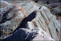 - Colorful Mounds Near Panorama Point, Badlands NP -