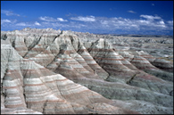 - Formations Near Panorama Point, Badlands NP -