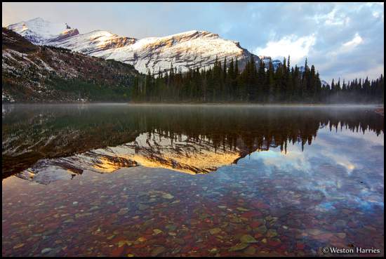 - Mt. Henkel and Altyn Reflected in Upper Josephine Lake, Glacier NP -