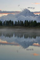 - Reflection of an Autumn Snow Storm Clearing at Sunset, Grand Teton NP -