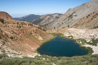 - Looking Down on Lower Monarch Lake, Mineral King Area, Sequoia NP -