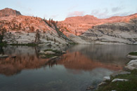 - Reflection of the Last Light on the Ridge Above Pear Lake, Sequoia NP -