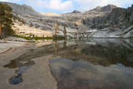 - Granite Shoreline Leading Into Pear Lake, with Reflection, Sequoia NP -