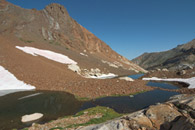 - String of Ponds Below Tulare Peak, Mineral King Area, Sequoia NP -