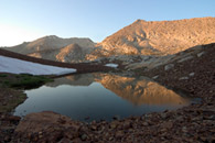 - Rainbow Mtn. Reflected in a Pond by Upper Franklin Lake, Mineral King Area, Sequoia NP -