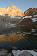 - Florence Pk. Reflected in Upper Franklin Lake, Mineral King Area, Sequoia NP -