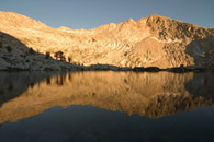 - Late Afternoon Light Reflected in Upper Crystal Lake, Mineral King Area, Sequoia NP -
