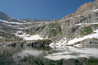 - Snow Floating in Emerald Lake, Sequoia NP -