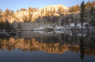 - Sunset Light Reflected in Heather Lake, Sequoia NP -