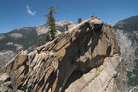 - Backpacker Standing on the Peak of The Watchtower, Sequoia NP -