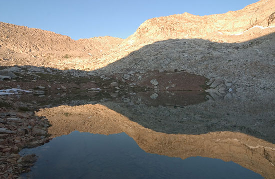 - Rainbow Mtn. Reflected in Upper Franklin Lake, Mineral King Area, Sequoia NP -