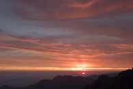 - Sunset Over Distant Ridges, Seen From Moro Rock, Sequoia NP -