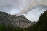 - Storm Clouds Over North Dome, Yosemite NP -