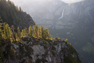 - Distant Yosemite Falls Seen From Glacier Point, Yosemite NP -