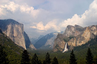 - El Capitan, Half Dome, and Bridal Veil Falls from Discovery View, Yosemite NP -