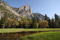- Sentinel Rock Above a Flooded Leidig Meadow, Yosemite NP -