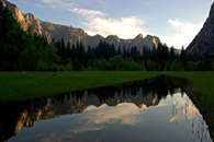 - Flooded Leidig Meadow Reflecting Yosemite Valley, Yosemite NP -