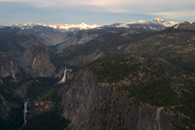 - Vernal and Nevada Falls, and the Ritter Range, Sunset, Yosemite NP -